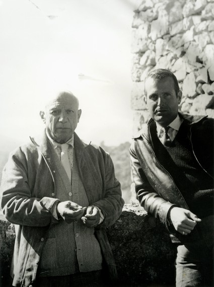 Picasso and John Richardson, Vauvenargues, France, 1959. Photo: Jacqueline Picasso, courtesy John Richardson Archive