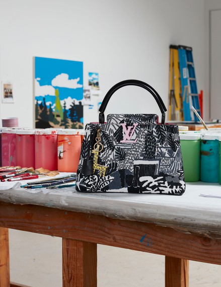 Jonas Wood's limited-edition Louis Vuitton Artycapucines bag