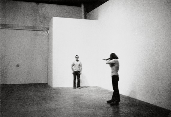 Chris Burden, Shoot, 1971 © 2019 Chris Burden/Licensed by the Chris Burden Estate and Artists Rights Society (ARS), New York. Photo: Barbara T. Smith