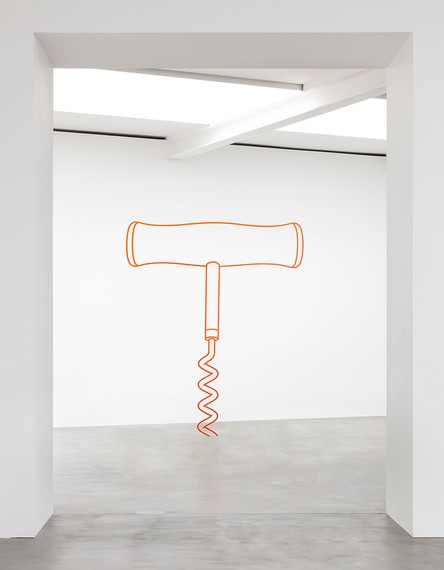 Michael Craig-Martin, Corkscrew (orange), 2019 © Michael Craig-Martin. Photo: Lucy Dawkins