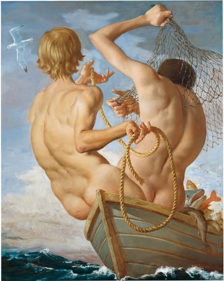 John Currin, Fishermen, 2002 © John Currin