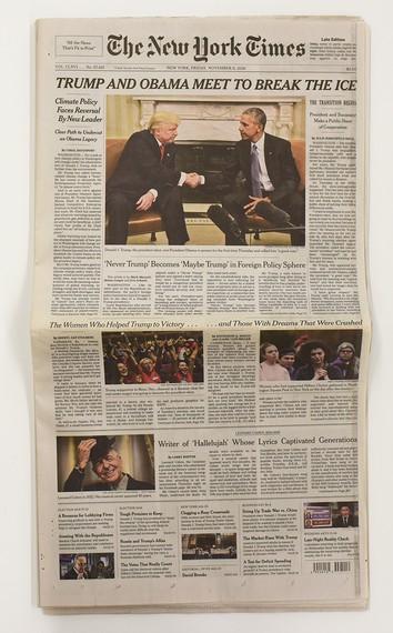 Taryn Simon, New York Times, Friday, November 11, 2016, 2017 © Taryn Simon