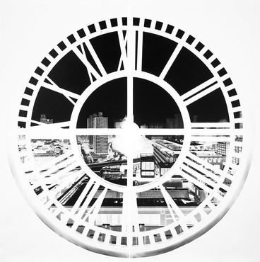 Vera Lutter, Clock Tower, Brooklyn, XXXVI: June 16, 2009, 2009 © Vera Lutter