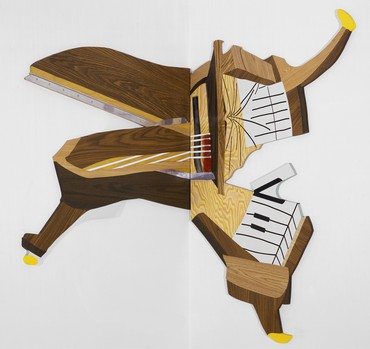 Richard Artschwager, Splatter Piano, 1999 © 2019 Richard Artschwager/Artists Rights Society (ARS), New York