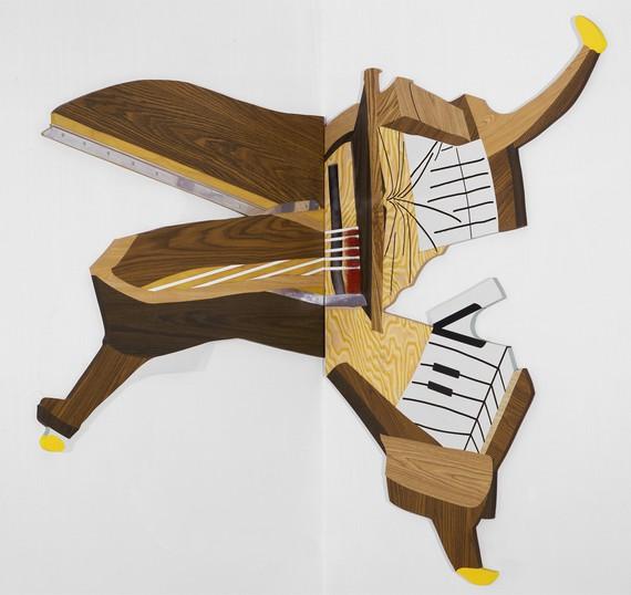 Richard Artschwager, Splatter Piano, 1999 © 2019 Richard Artschwager/Artists Rights Society (ARS), New York
