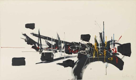 Georges Mathieu, Untitled, 1959, Solomon R. Guggenheim Museum, New York © 2019 Artists Rights Society (ARS), New York/ADAGP, Paris