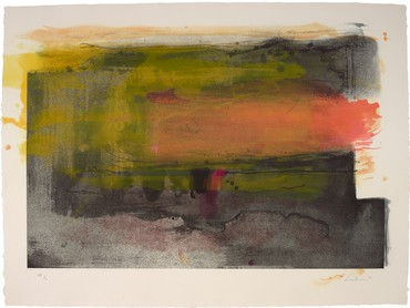 Helen Frankenthaler, Deep Sun, 1983, Princeton University Art Museum, New Jersey © 2019 Helen Frankenthaler Foundation, Inc./Artists Rights Society (ARS), New York/Tyler Graphics Ltd., Bedford Village, New York