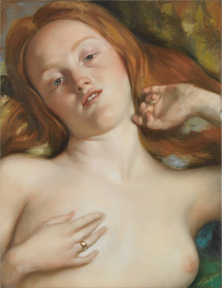 John Currin, Young Woman on a Lounger, 2014 © John Currin