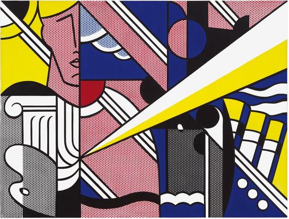 Roy Lichtenstein, Modern Painting with Ionic Column, 1967 © Estate of Roy Lichtenstein