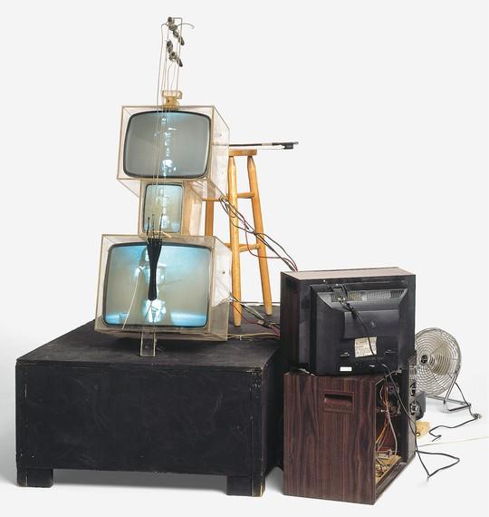 Nam June Paik, TV Cello, 1971 © Nam June Paik Estate