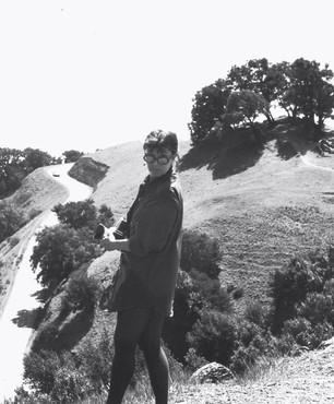 Jay DeFeo on Mount Tamalpais, Marin County, California, 1973. Photo: John Bogdanoff