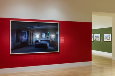 Installation view, Edward Hopper and the American Hotel, Newfields, Indianapolis, July 17–October 25, 2020. Artwork © Gregory Crewdson