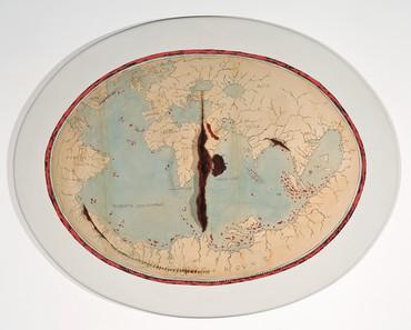 Adriana Varejão, Map of Lopo Homem II, 1992–2004 © Adriana Varejão
