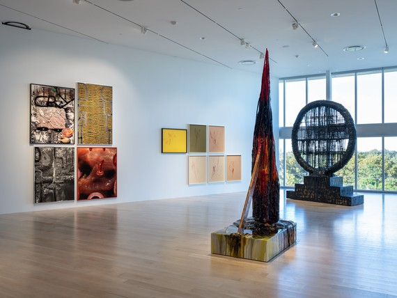 Installation view, Sterling Ruby, Institute of Contemporary Art, Miami, November 7, 2019–February 2, 2020. Artwork © Sterling Ruby