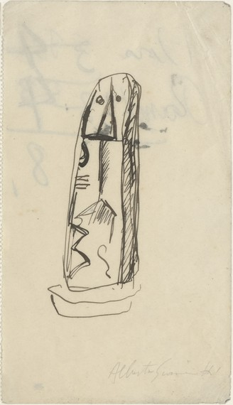 Alberto Giacometti,Projet pour une sculpture, c. 1926 © 2020 Succession Giacometti (Fondation Giacometti, Paris + ADAGP, Paris)