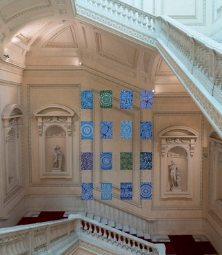 Alberto Di Fabio's I Quanti (2019) installed in the Palazzo Koch, Rome. Artwork © Alberto Di Fabio. Photo: Giorgio Benni
