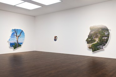 Installation view, Alex Israel: Always On My Mind, Gagosian, Grosvenor Hill, London, January 16–March 14, 2020. Artwork © Alex Israel. Photo: Lucy Dawkins