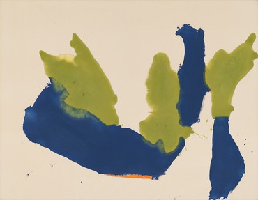 Helen Frankenthaler, Orange Underline, 1963 © 2020 Helen Frankenthaler Foundation, Inc./Artists Rights Society (ARS), New York