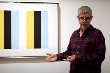 "Still from ""Artists on Art: Mark Grotjahn on John McLaughlin"""