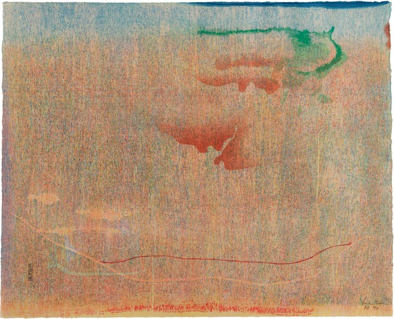 Helen Frankenthaler, Cedar Hill, 1983 © 2020 Helen Frankenthaler Foundation, Inc./Artists Rights Society (ARS), New York/Crown Point Press, Oakland, California