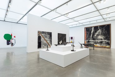 Installation view, Sterling Ruby, Institute of Contemporary Art, Boston, February 26–May 26, 2020. Artwork © Sterling Ruby