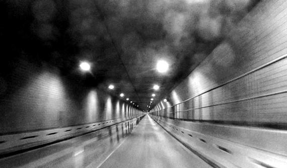 "Adam McEwen, Escape from New York, 2014 (still from ""Battery Tunnel"") © Adam McEwen"