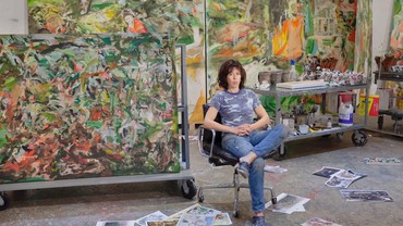 """Still from """"Cecily Brown: The Market"""""""
