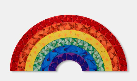 Damien Hirst, Butterfly Rainbow, 2020 © Damien Hirst and Science Ltd. All rights reserved, DACS 2020