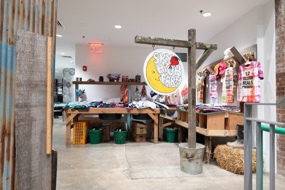 Sky High Farm collection on display at Dover Street Market, Los Angeles, 2019