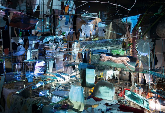 Sarah Sze, Images in Debris, 2018 (detail) © Sarah Sze