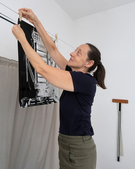 Vera Lutter in her studio, New York, 2020. Artwork © Vera Lutter. Photo: Lukas Vogt
