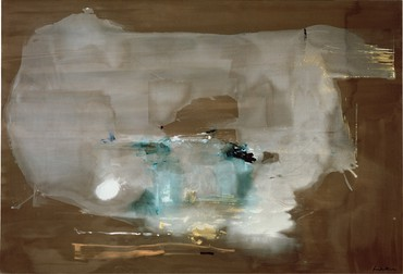 Helen Frankenthaler, M, 1977, collection of Helen Frankenthaler Foundation, New York © 2020 Helen Frankenthaler Foundation, Inc./Artists Rights Society(ARS), New York. Photo: Steven Sloman