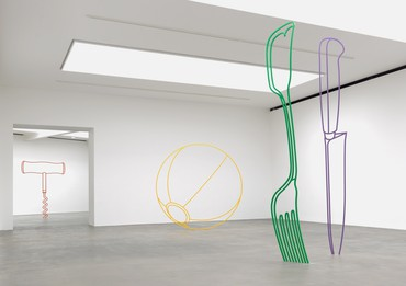 Installation view, Michael Craig-Martin: Sculpture, Gagosian, Britannia Street, London, May 31–August 23, 2019. Artwork © Michael Craig-Martin. Photo: Mike Bruce