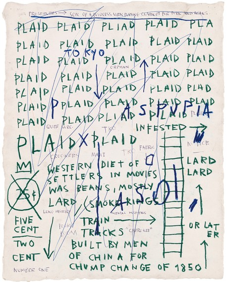 Jean-Michel Basquiat, Untitled (Plaid), 1982, Whitney Museum of American Art, New York © The Estate of Jean-Michel Basquiat. Licensed by Artestar, New York