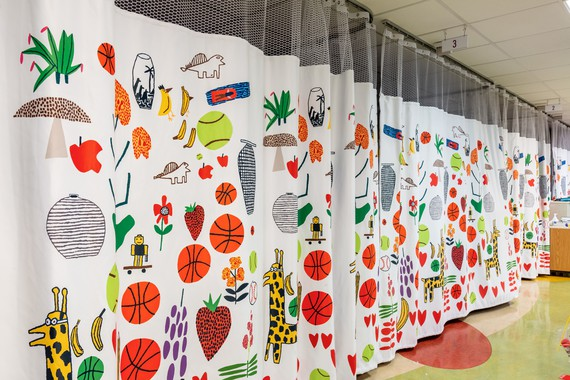Jonas Wood's privacy curtains installed at the Children's National Hospital, Washington, DC