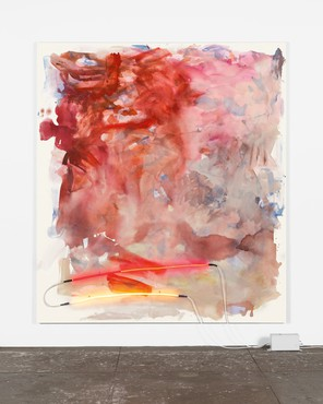 Mary Weatherford, canyon, 2014, Rose Art Museum, Brandeis University, Waltham, Massachusetts © Mary Weatherford