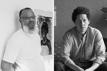 Left: Meleko Mokgosi. Photo: courtesy the artist. Right: Michael Armitage. Photo: Theo Christelis © White Cube