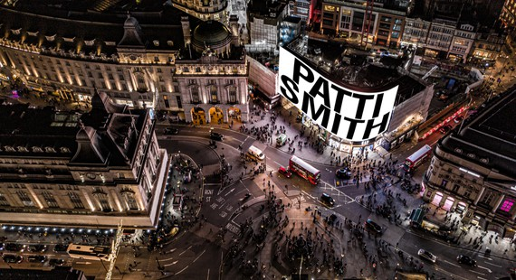 Patti Smith, A New Year, 2021, Piccadilly Lights, London