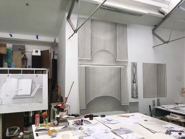 Paul Noble's studio, London, 2020