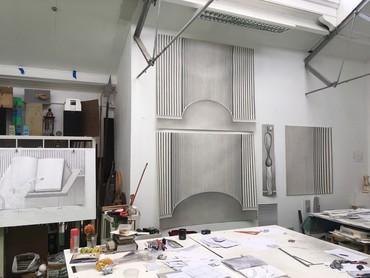 Paul Noble's studio, London, 2020