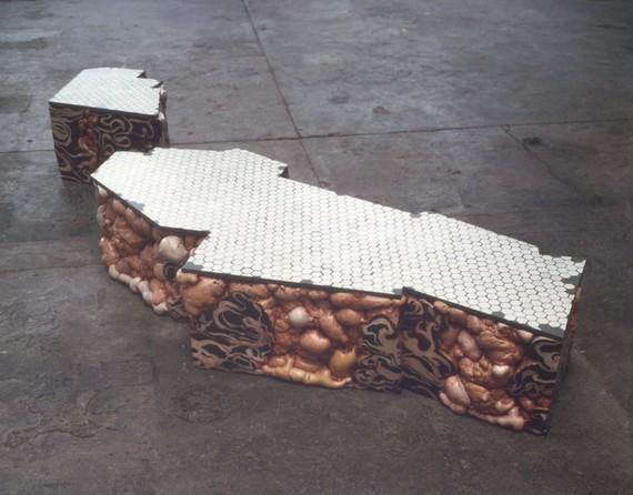 Adriana Varejão,Horto Jerked-Beef Ruin (diptych), 2001 © Adriana Varejão