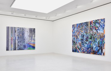 Installation view, Sarah Sze, Gagosian, Paris, May 23–July 18, 2020. Artwork © Sarah Sze. Photo: Rebecca Fanuele