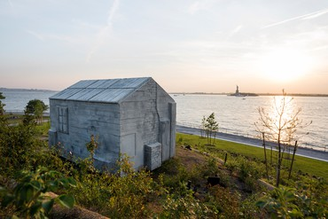 Rachel Whiteread, Cabin, 2016, permanent installation, Governors Island, New York © Rachel Whiteread. Photo: Tim Schenck