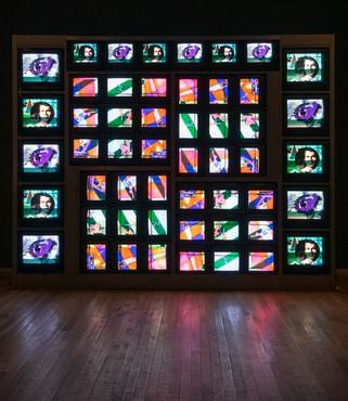 Nam June Paik, Internet Dream, 1994, installation view, Tate Modern, London © Estate of Nam June Paik