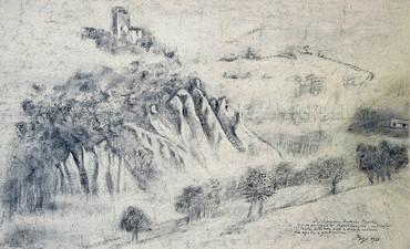 Balthus, Paysage de Monte Calvello, 1978 © Balthus