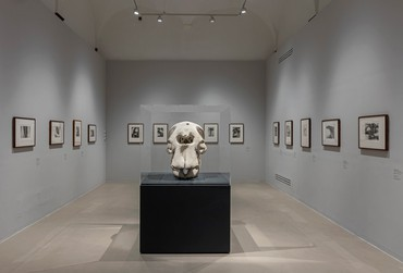 Installation view, Henry Moore: Il Disegno dello scultore, Museo Novecento, Florence, Italy, January 18–July 18, 2021. Artwork: Reproduced by permission of the Henry Moore Foundation. Photo: Serge Domingie