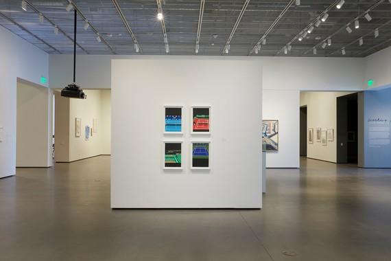 Jonas Wood, Four Majors, 2018, Installation view, Jan Shrem and Maria Manetti Shrem Museum of Art, University of California, Davis, June 3–November 12, 2021. Artwork © Jonas Wood. Photo: Cleber Bonato