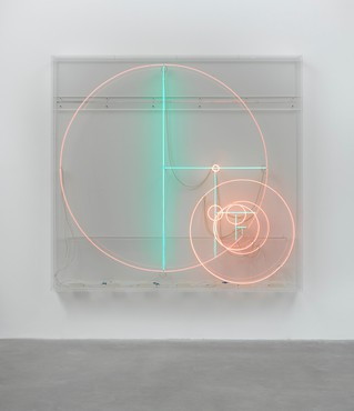 Carsten Höller, Divisions (Turquoise Lines and Pink Circles), 2014 © Carsten Höller