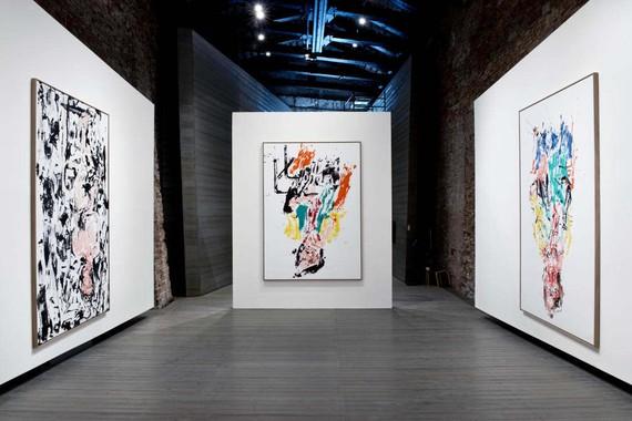Installation view, Georg Baselitz: Vedova accendi la luce, Fondazione Emilio e Annabianca Vedova, Venice, May 20–October 31, 2021. Artwork © Georg Baselitz, 2021
