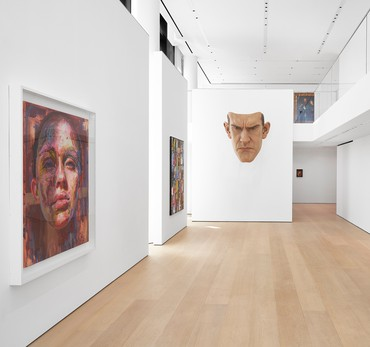 Installation view, The Human Body, Hill Art Foundation, New York, April 29–June 26, 2021. Artwork, left to right: © Jenny Saville, © Richard Prince, © Ron Mueck, Anthony van Dyck, Peter Paul Rubens. Photo: Matthew Herrmann